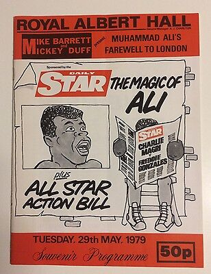 1979 Muhammad Ali Exhibition Boxing Programme Charlie Magri