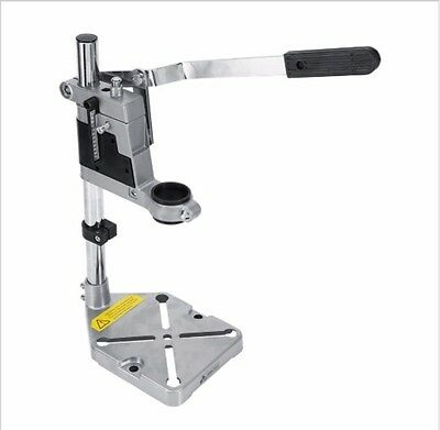 Electric Drill Press Stand Tool Bench Pedestal Clamp plunge power for hand drill