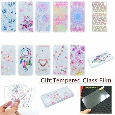 ULTRA THIN Fashion Floral Clear SOFT TPU Rubber Back Case Cover For Sony Xperia