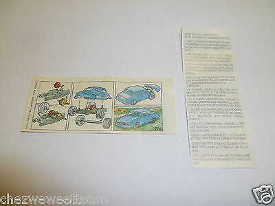 Ancienne BPZ Montable Cosmes - Voiture Bleu N°781