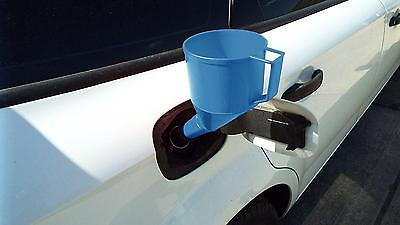 Self Supporting Angled Fuel Funnel With Fine Mesh Filter Carry Handle