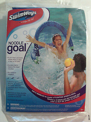 SwimWays Floating Pool Noodle Sports Goal 13172 Ages 5+ Water Polo Pool Lacrosse