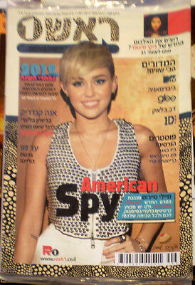 Miley Cyrus > on cover ISRAEL HEBREW MAGAZINE #1 >SEALED<