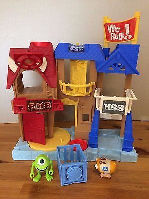 Fisher-Price Imaginext Monsters inc University Row Play Set complete/figures vgc