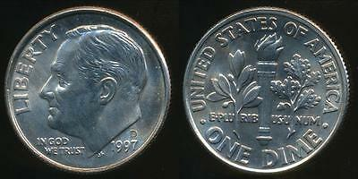 United States, 1997-D Dime, Roosevelt - Uncirculated