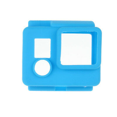 GOPRO 3 et 4 Coque  protection bleu  silicone caisson waterproof france
