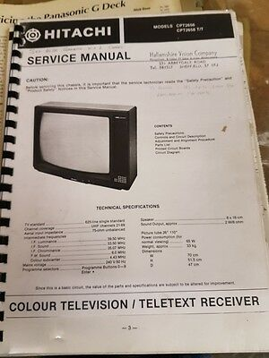 service manual for hitachi cpt2656 and 2658