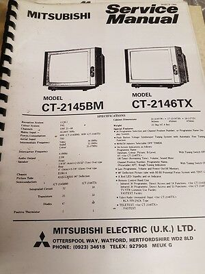 service manual for mitsubishi ct-2145bm and ct-2146tx