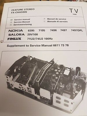service manual for nokia,salora,finlux various models