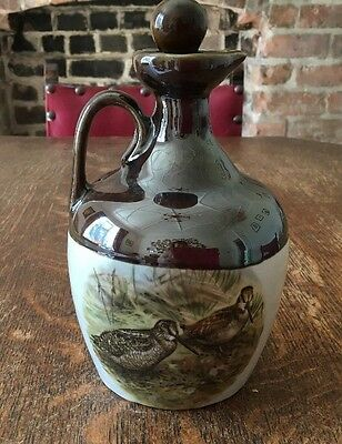 Vintage Scottish Handcrafted Montrose Whiskey Decanter With Woodcock/ Pheasant
