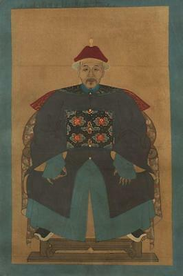 ANONYMOUS (Chinese,). ANCESTOR PORTRAITS, Two ancestor portaits on cl... Lot 104