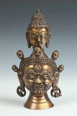 THAI BRASS BUDDHA, 20th century. - H: 8 1/2 in. Lot 34