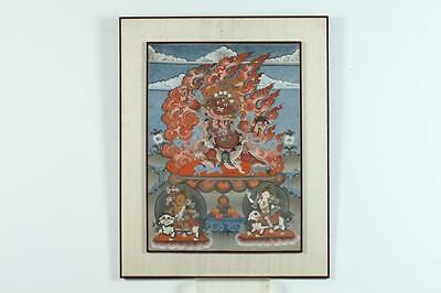 INDIAN THANGKA ON BOARD. - 25 1/4 in. x 18 1/2 in. Lot 37