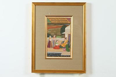 INDIAN SCHOOL (Indian, 20th century). INDIAN MINIATURE, Ink and color ... Lot 35