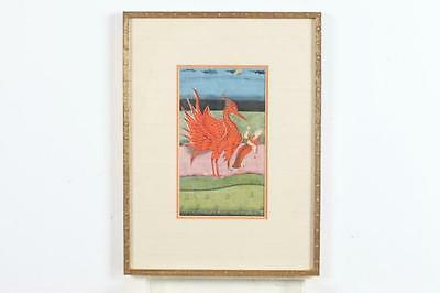 ANONYMOUS (Indian,). WOMAN AND PHOENIX, framed. Lot 39