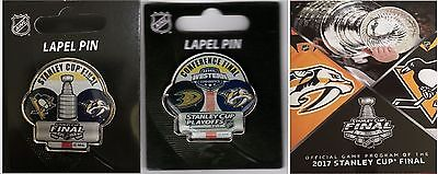 Stanley Cup Final Program & Two Pin Combo Predators Western Conference Dueling