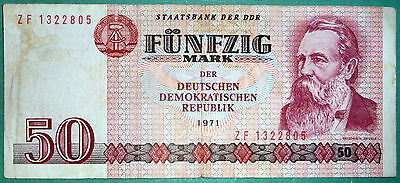 EAST GERMANY DDR GDR  50 MARK  NOTE FROM 1986,  P 30 b , ENGELS