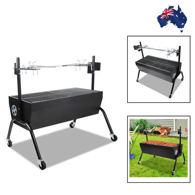 Spit Roaster Rotisserie 230V Motor BBQ with Charcoal Grill Outdoor Camping Roast