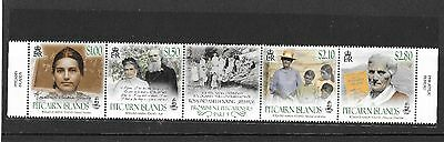 Pitcairn Islands 2017  NEW ISSUE Prominent Pitcairners Part 5 MNH