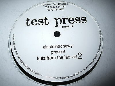 "Einstein & Chewy - Kutz From The Lab Vol. 2  12"" Vinyl Groove Yard Records  1996"
