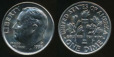 United States, 1998-P Dime, Roosevelt - Uncirculated