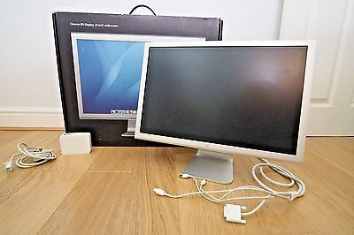 """Boxed Apple Hd Cinema Display Monitor A1082 23"""" 90Ghz 1920X1200 Widescreen"""