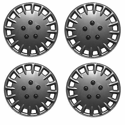 "NEW WNB 15"" Car Wheel Trims Hub Caps Plastic Covers Set of 4 Silver Universal"