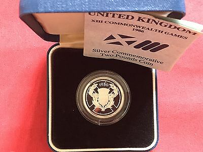 1986 Royal Mint Silver Proof £2 Two Pound Coin-Commonwelth Game Scottish Thistle