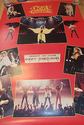 OZZY OSBOURNE ULTIMATE SIN LIVE OFFICIAL POSTER 1986 MONOWISE FUNKY Jake E Lee