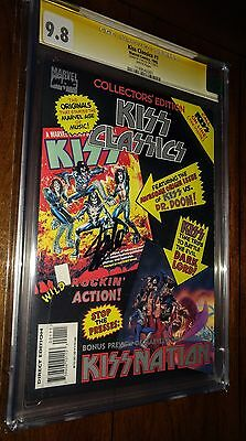 Kiss Classics CGC 9.8 Stan Lee Signed Marvel Music Comic 1995 Simmons Stanley