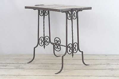 Vintage Antique California Tile and Wrought Iron Table Arts Crafts Mission Style