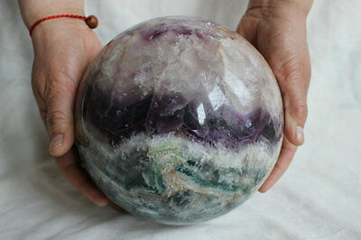 8.14kg 17.9LB Natural Fluorite Crystal Sphere Ball Polished Healing China 171mm