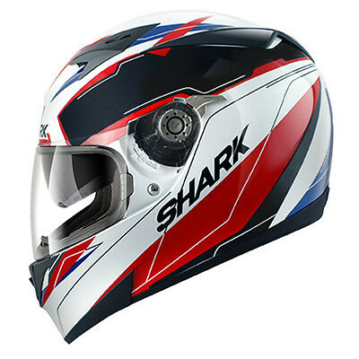 Shark S700S LAB Full Face Sports Motorcycle Helmet - White / Black / Red RRP£159