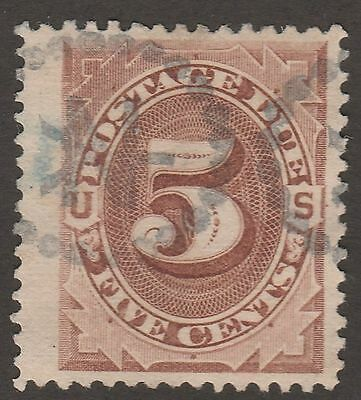 USA Scott #  J  4 Postage Due 5 Cent  Brown used (J4-5)