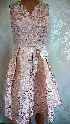 New Stunning Yumi Cream with Gold detail party dress size 8