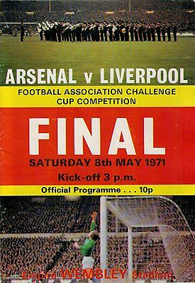 1971 FA Cup Final Programme Arsenal v Liverpool **FREE UK DELIVERY**