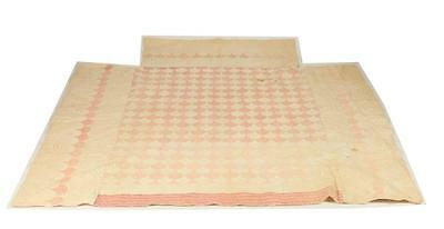 ANTIQUE PATCHWORK QUILT, late 19th-early 20th century. Lot 786