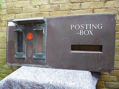 STAMP VENDING MACHINES. ROYAL MAIL. GPO. POSTING BOX. COOPER & WOOD. C. 1930's.