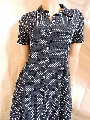Pur Vintage  Robe  Marine A Pois  Cacharel T 38/40/ Peas Dress