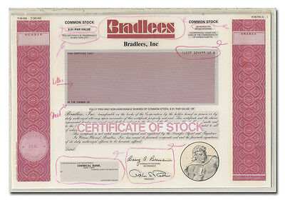 Bradlees, Inc. Production Folio - American Bank Note Archives