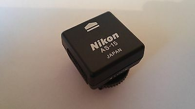 Genuine Nikon AS-15 Hot Shoe PC Adaptor