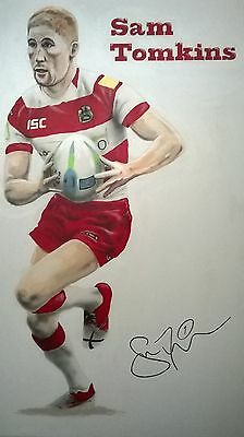 Sam Tomkins Painting on Canvas - 5' x 3'3""