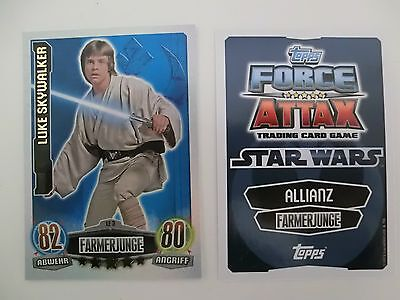 Le3 Luke Skywalker star wars force attax movie serie  1