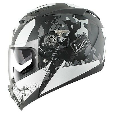 Shark S700S Trax Full Face Motorcycle Helmet - Matt Black / Silver / Anthracite