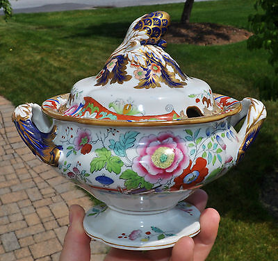 Superb Antique Ironstone Imari Small Tureen Staffordshire Francis Morley 3/517