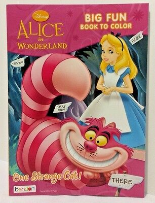 NEW Disney Alice in Wonderland Coloring Book: One Strange Cat ~ 96 Pages