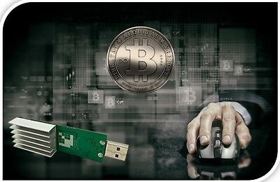 USB Bitcoin Stick Miner 5,5 up to 25 GH/s-33 GH/s per second max -Stay Anonymous