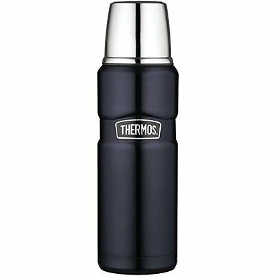 Bottle Thermos Compact Stainless Steel Hot Water Picnic 16 Oz Midnight Blue New
