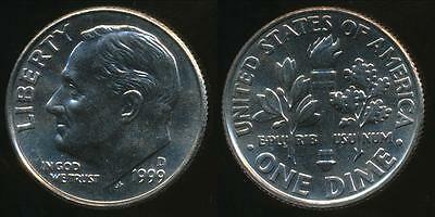United States, 1999-D Dime, Roosevelt - Uncirculated