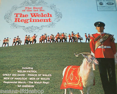 The Band Of The 1st Bn. The Welch Regiment Vinyl Record LP Album 1969 Rare